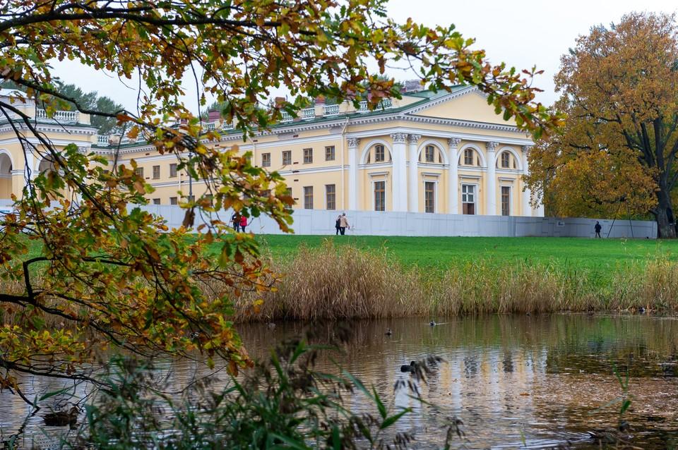 Александровский дворец начали реставрировать в 2012 году