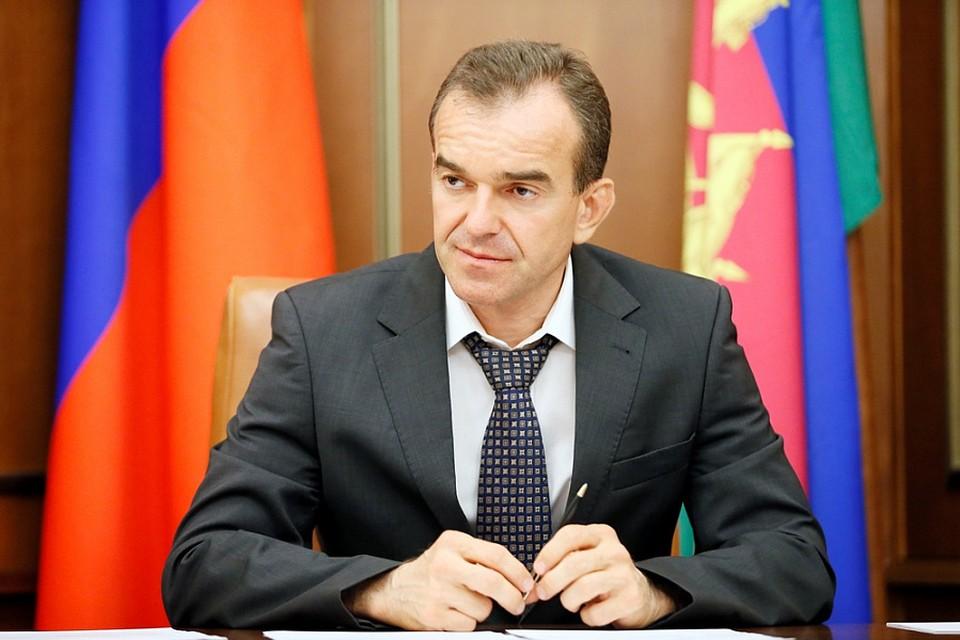 Губернатор Вениамин Кондратьев назвал обстановку с заболеваемостью COVID-19 в регионе стабильной. Фото: пресс-служба правительства Краснодарского края.