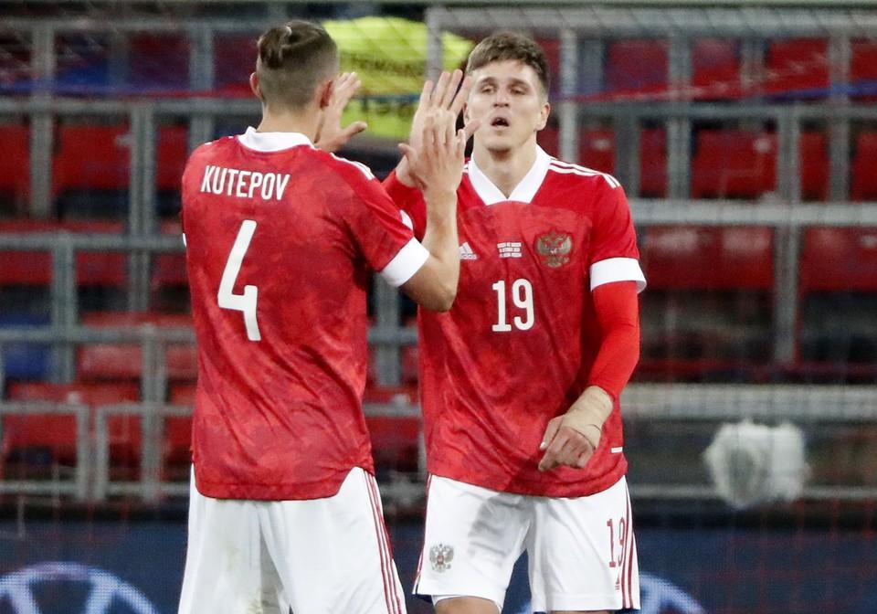 Александр Соболев забил впервые в карьере гол за сборную.