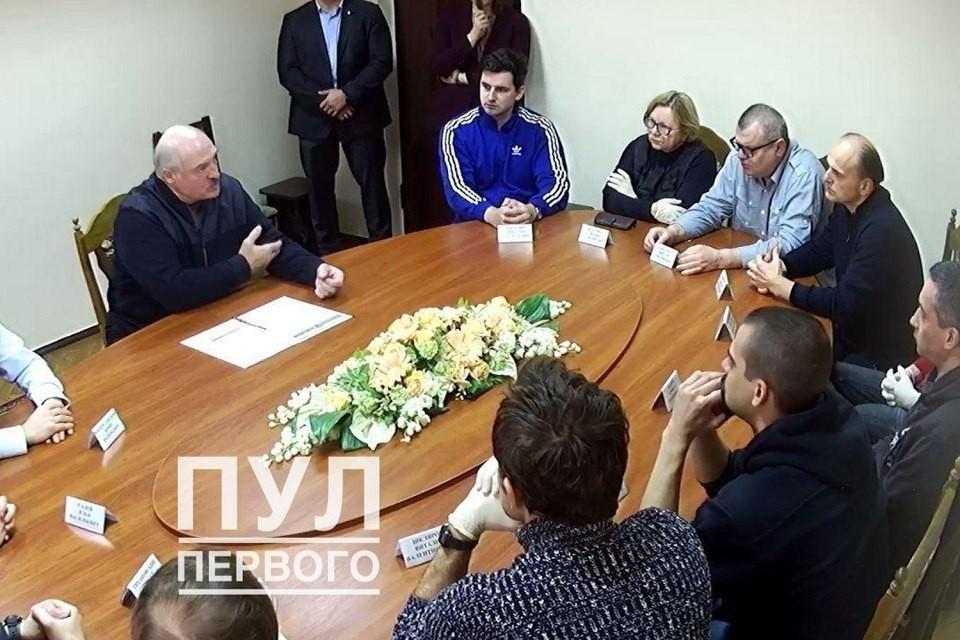 Лукашенко посетил СИЗО КГБ. Фото: телеграм-канал «Пул Первого»
