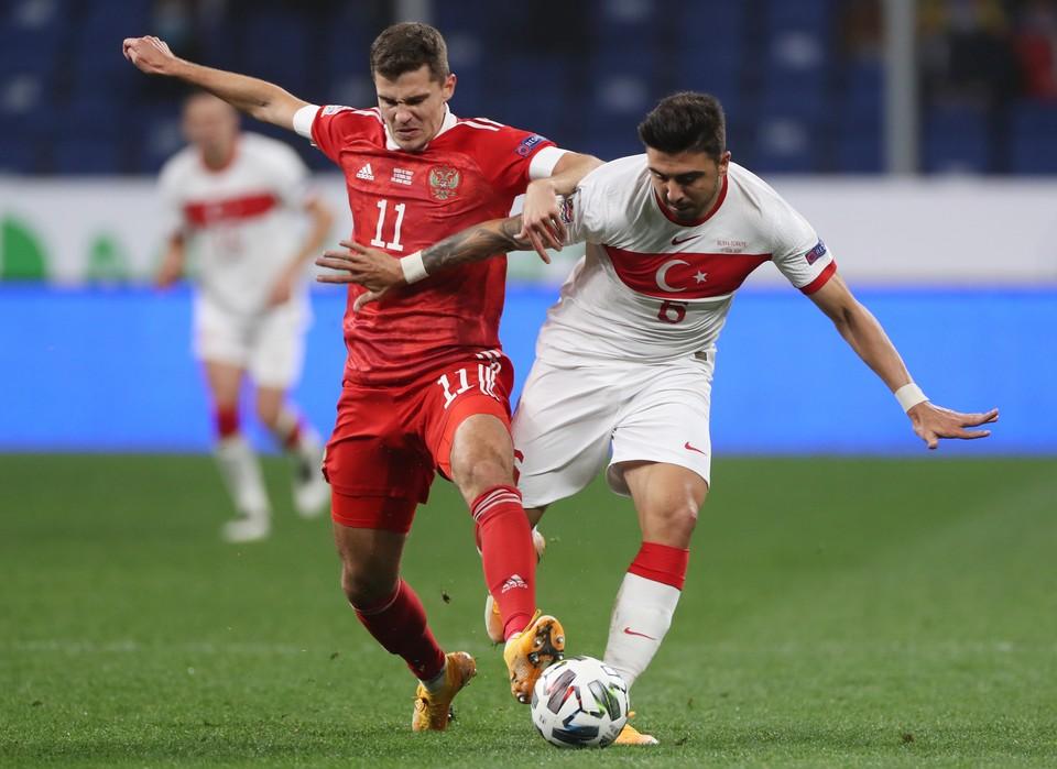 Сборная России сыграла с Турцией.
