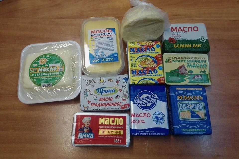 Для экспертизы были отобраны 10 образцов сливочного масла.