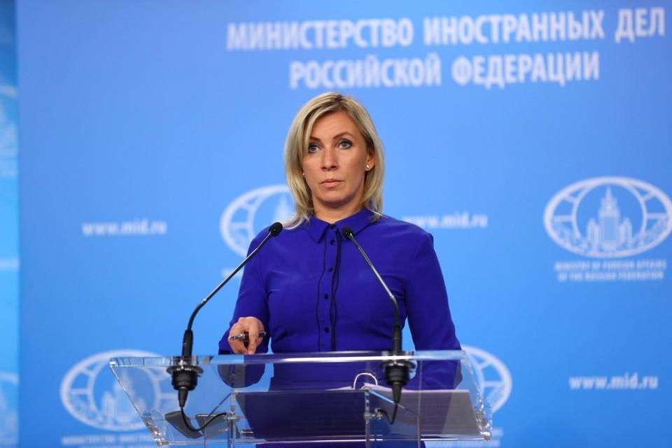 Захарова заявила, что санкции из-за ситуации с Навальным не останутся без ответа