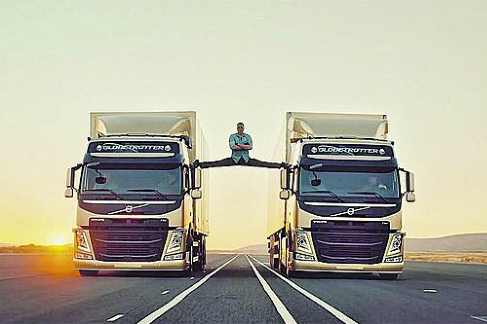 7 лет назад актер снялся в рекламе грузовиков. И опять всех изумил.