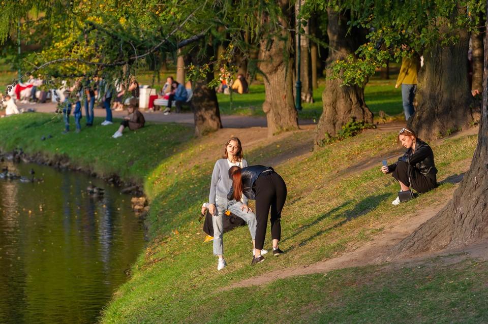 Погода еще дает возможность погулять по паркам и насладиться золотой осенью.
