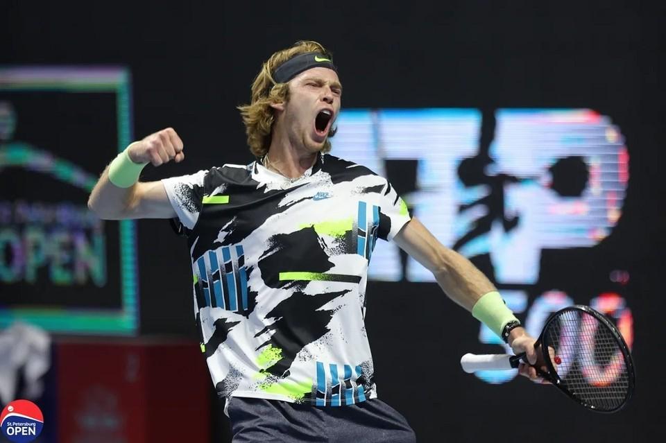 Рублев стал победителем Фото: St. Petersburg Open 2020