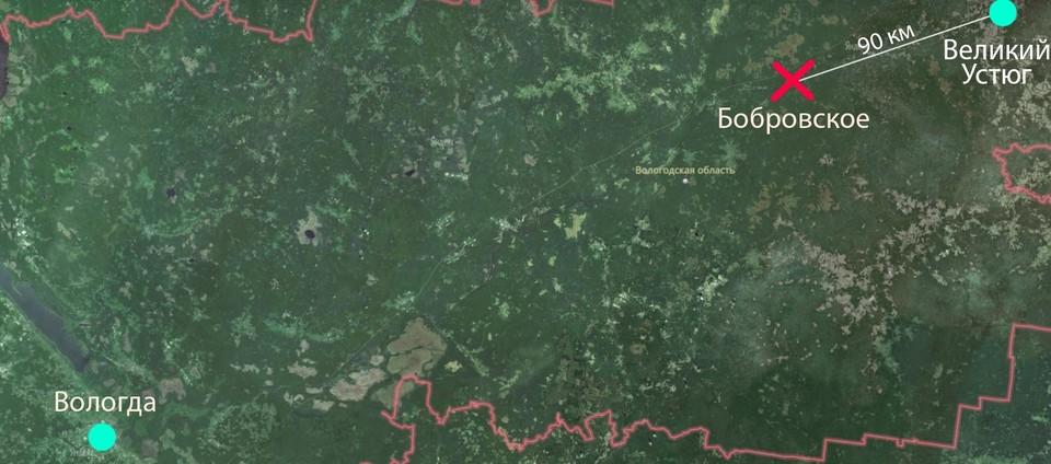 Крушение произошло в 90 километрах от Вотчины Деда Мороза.