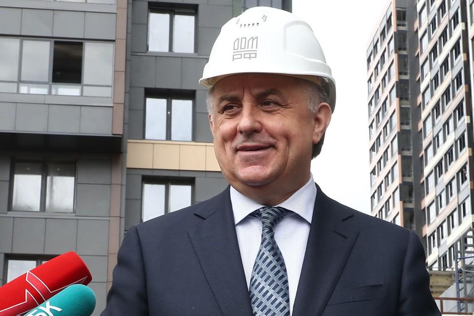 Генеральный директор ДОМ.РФ Виталий Мутко. Фото: Антон Новодережкин/ТАСС