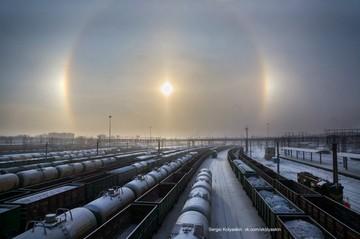 Солнечный круг, гало вокруг. Челябинский фотограф охотится за необычными природными явлениями