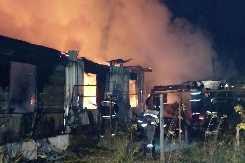 В Первомайском районе сгорел частный дом. Фото: ГУ МЧС по Новосибирской области
