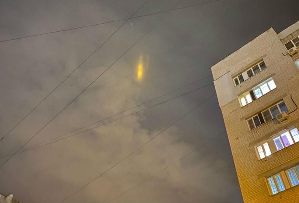 Необычное свечение в небе напугало жителей Нижнего Новгорода. ФОТО: Регион-52, Андрей Степнев