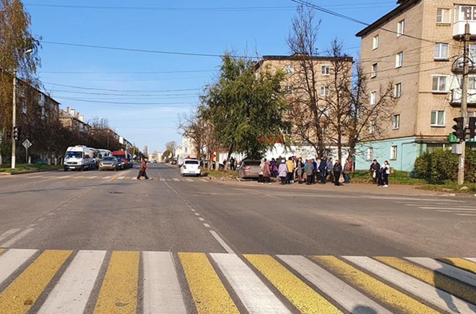 Иномарка вылетела на тротуар и сбила пешехода Фото: УГИБДД России по Тверской области