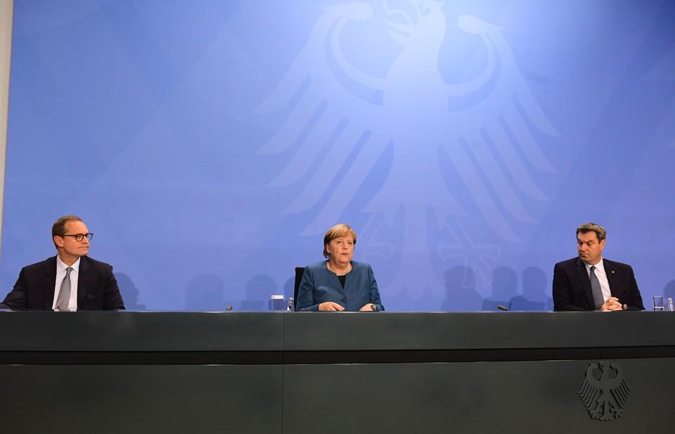 Ангела Меркель провела пресс-конференцию по итогам видеоконференции с премьер-министром Германии о текущей ситуации с коронавирусом