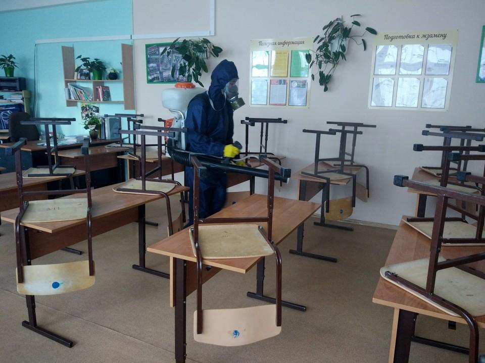 В Когалымских школах проводят масштабную дезинфекцию Фото: Официальный сайт органов местного самоуправления города Когалыма