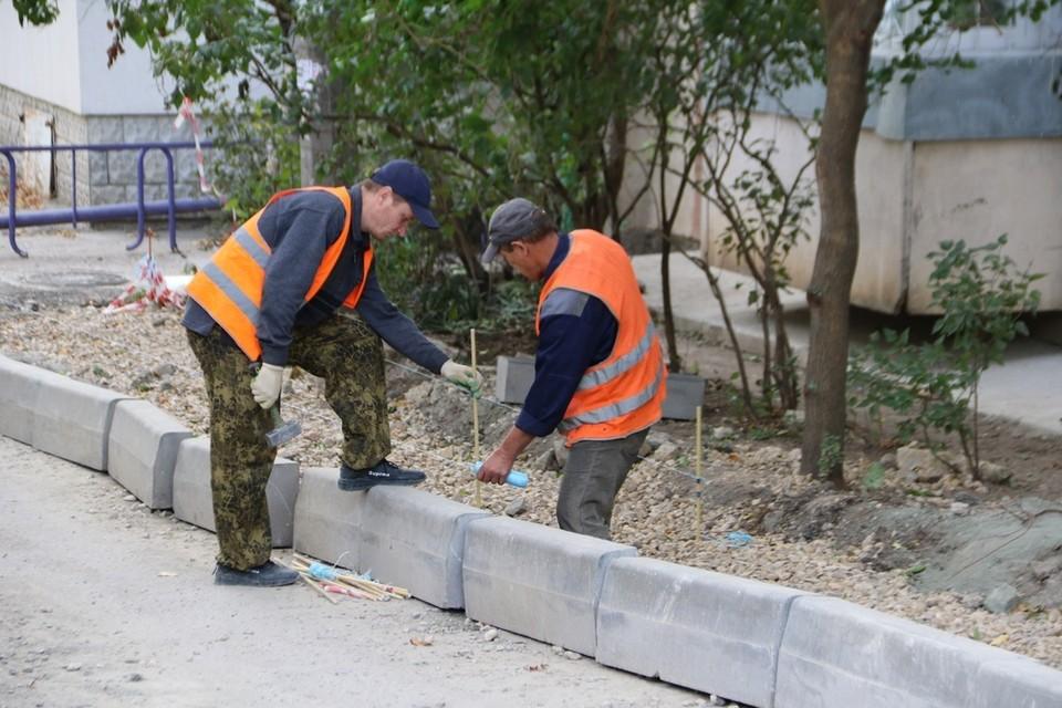 27 октября работы на дворовой территории по улице Пушкина были выполнены на 100%