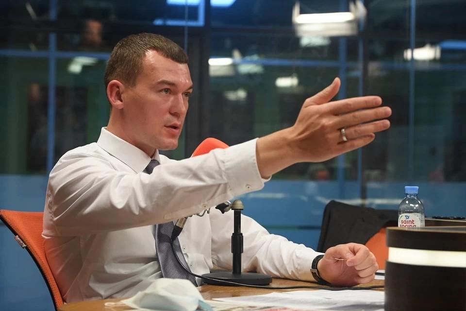 Михаил Дегтярев рассказал о строительстве моста на Сахалин