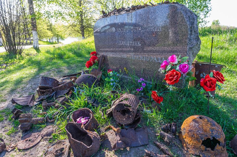 Под Петербургом перезахоронили останки солдат Красной Армии.