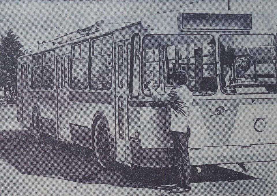 В августе 1975-го в Калининград поступил первый из 30 троллейбусов новейшей на тот момент модели – «ЗИУ-9», собранных на заводе имени Урицкого в городе Энгельсе.