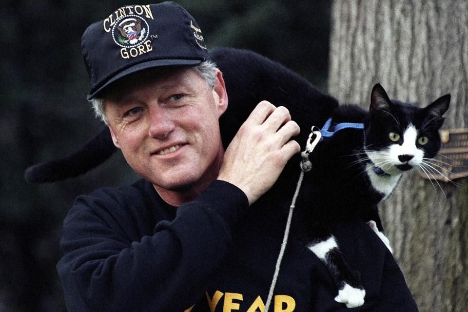 Билл Клинтон въехал в Белый дом с котом Соксом
