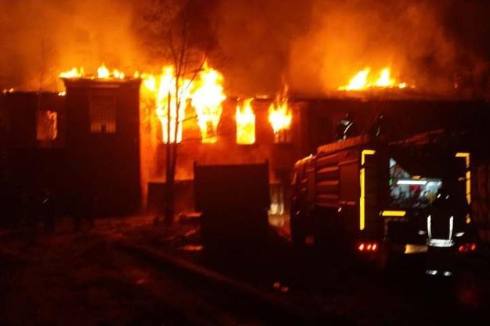 Пожар в Красноармейске. Фото: МЧС России
