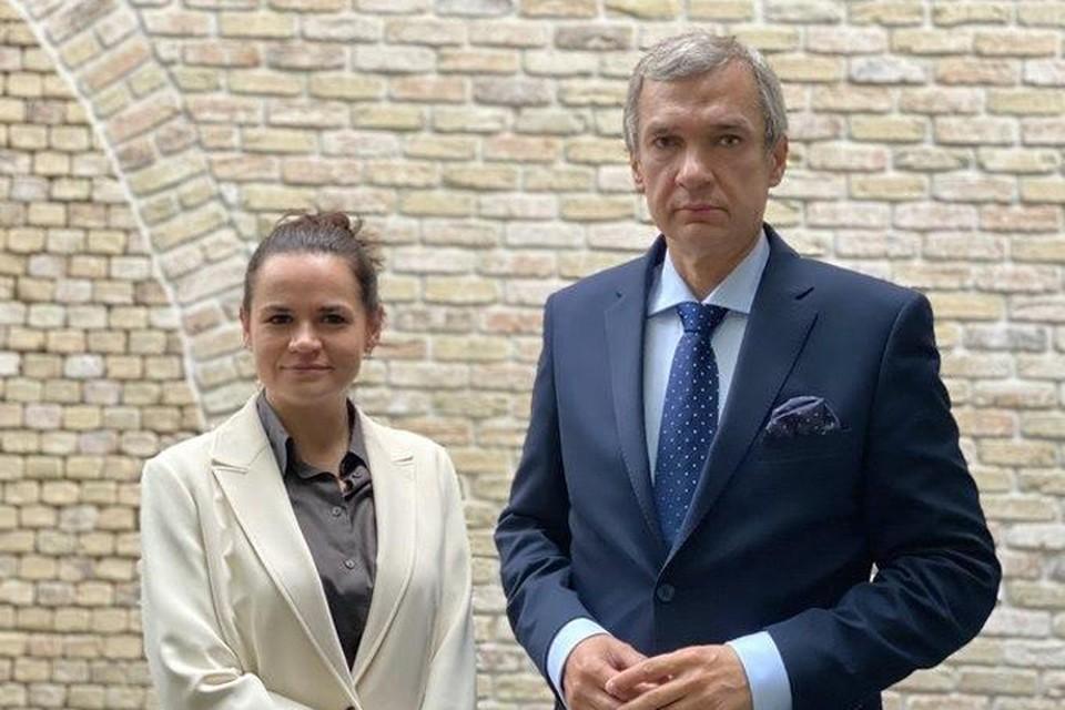 Павел Латушко и Светлана Тихановская. Фото: news.myseldon_com