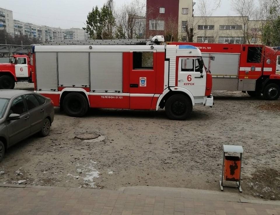К ликвидации пожара привлекались 46 человек, девять единиц техники