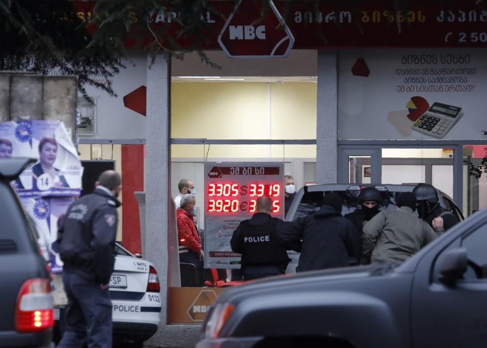 Полиция Грузии задержала захватчика заложников в офисе в Тбилиси