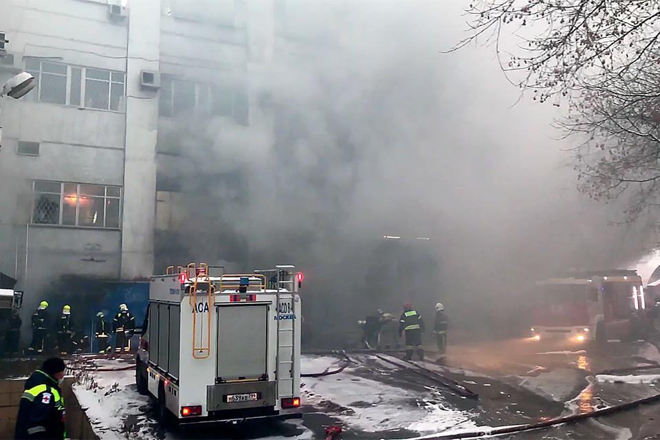 Варшавское шоссе утонуло в дыму