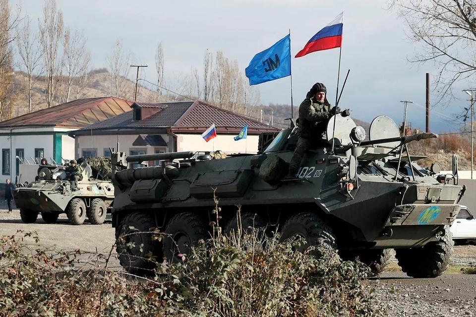 Российский миротворец получил ранение из-за взрыва мины в Карабахе