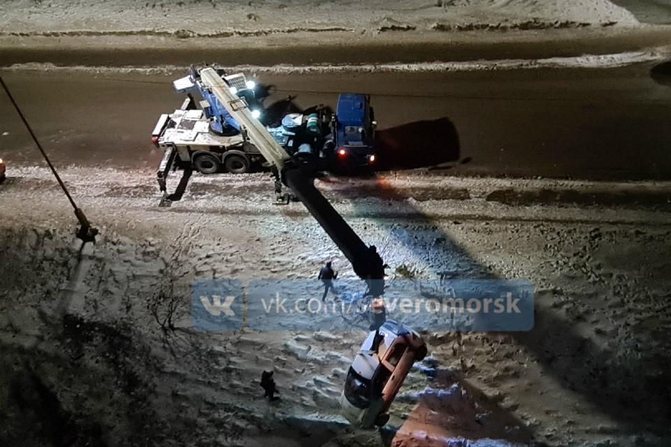 Что стало причиной аварии - не известно. Фото: vk.com/severomorsk