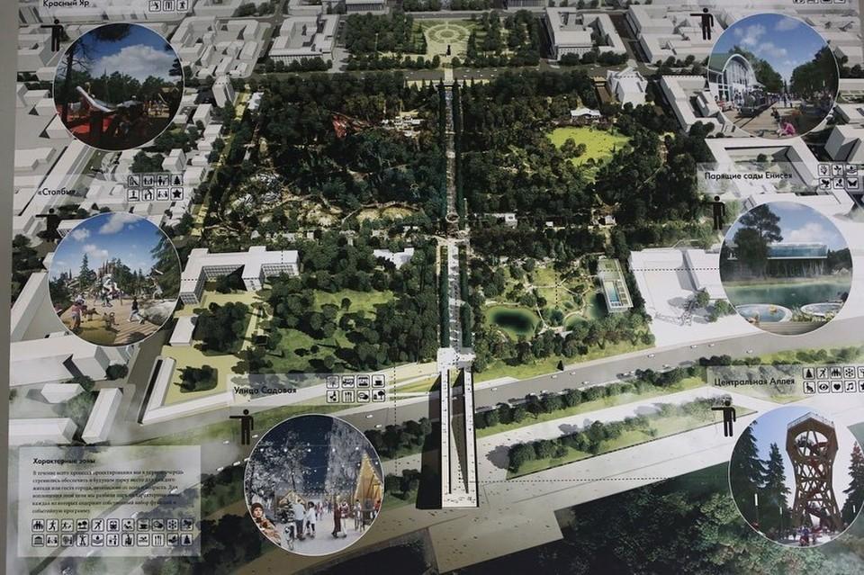 В Красноярске выбрали концепцию развития Центрального парка. Фото: администрация города