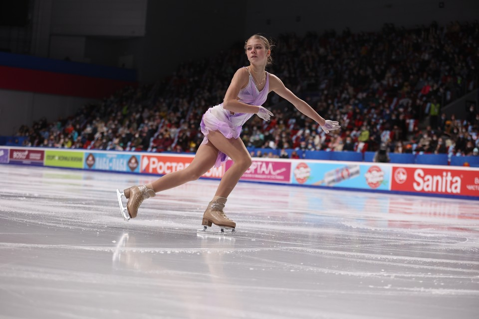 Александра Трусова заняла третье место