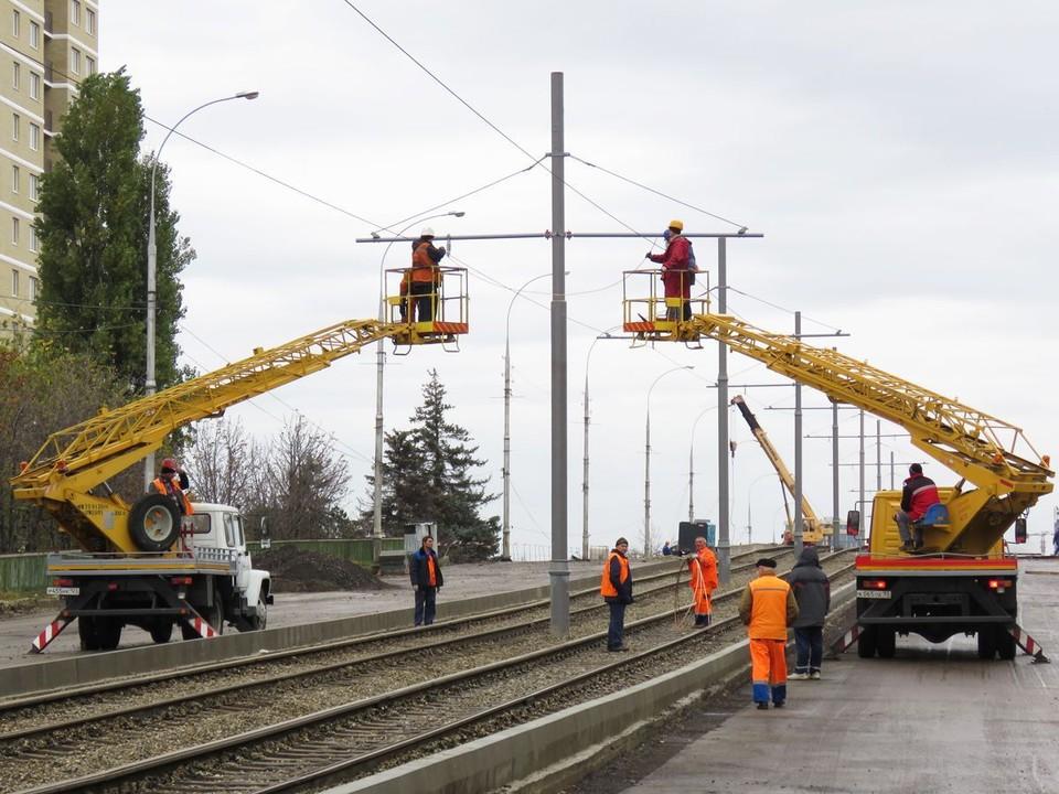 Строительство линии на Московской продлится весь 2021 год Фото: МУП КТТУ