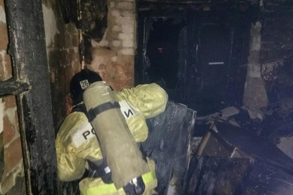 Площадь пожара составила около 40 квадратных метров