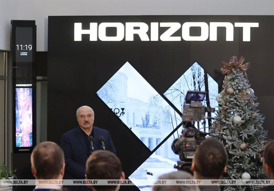 Лукашенко посещает «Горизонт». Фото: БелТА