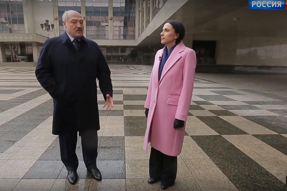 Александр Лукашенко рассказал о перспективах выстраивания отношений с Вашингтоном. Фото: кадр из видео Россия 1.