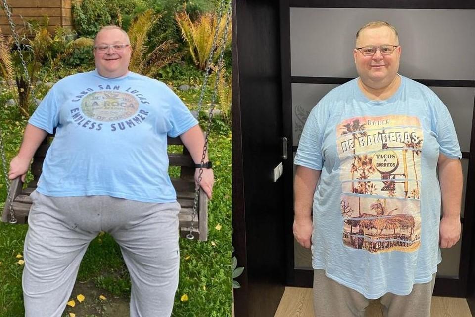 Сибиряк весом 2,5 центнера похудел благодаря жене и Инстаграму