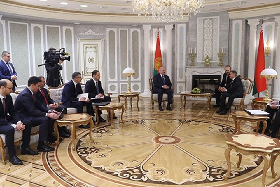 Лукашенко и Фазель провели переговоры в Минске 11 января. Фото: president.gov.by
