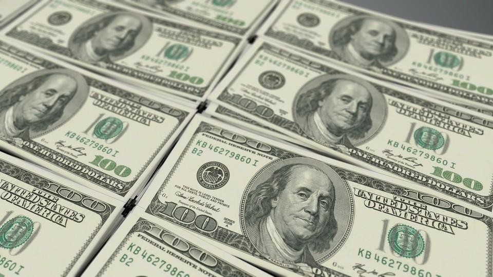 Курс доллара составляет 419,03 тенге