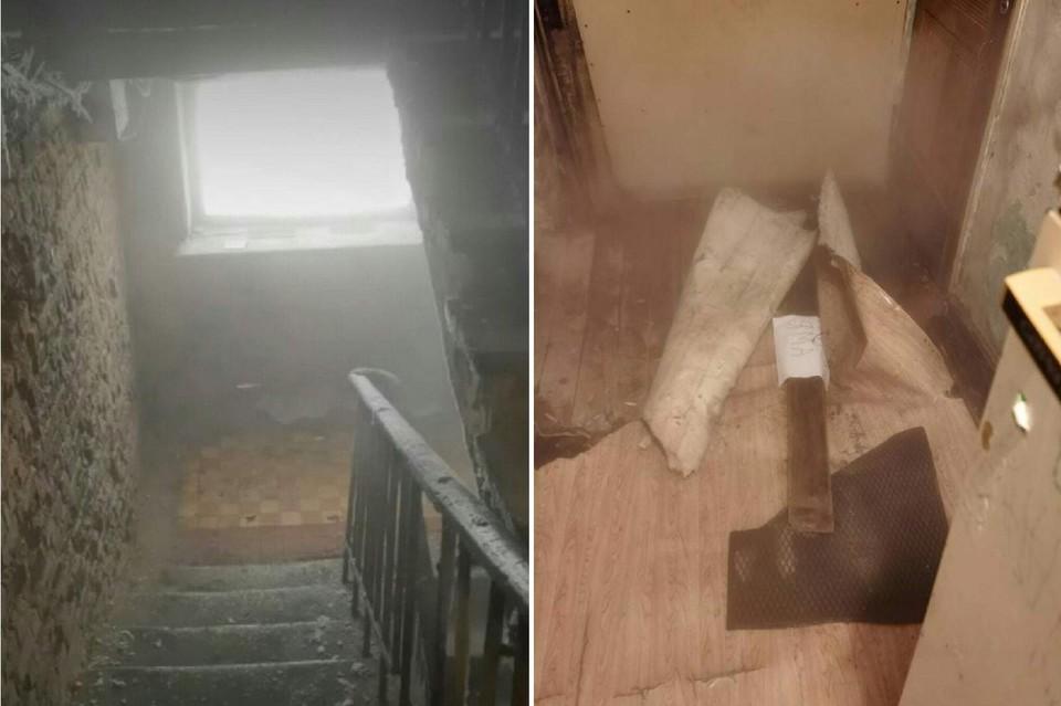 Так проблемный дом сейчас выглядит изнутри. Фото: «ЧП Омск»