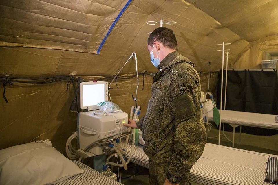 Временные госпитали поставили в Крыму в конце декабря. Фото: страница Сергея Аксенова/Facebook
