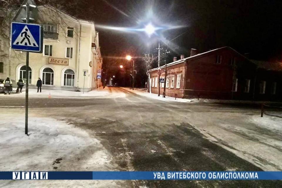 На этом перекрестке в Витебске водитель сбил ребенка и скрылся. Фото: Витьбичи.