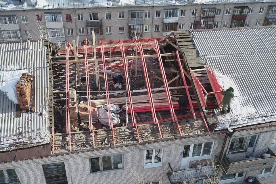 Сейчас возводят деревянные конструкции