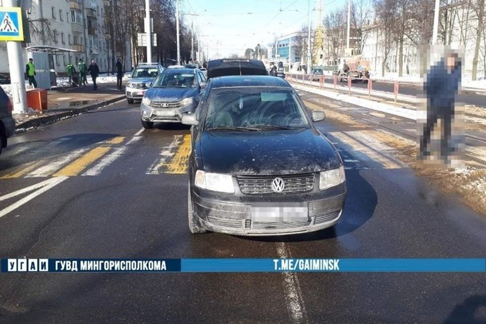 В Минске на Долгобродской автомобиль сбил 14-летнего подростка. Фото: телеграм-канал УГАИ ГУВД Мингорисполкома