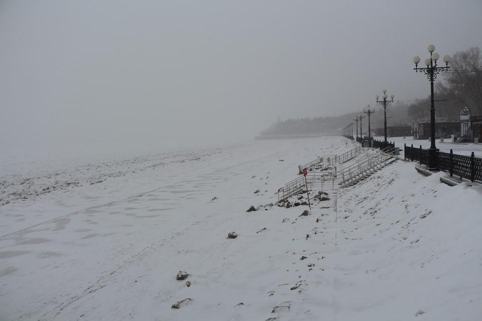 Снежный циклон в Хабаровском крае начал постепенно слабеть