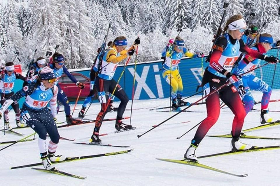 Женская сборная Беларуси стала четвертой на чемпионате мира. Фото: biathlonworld.com.