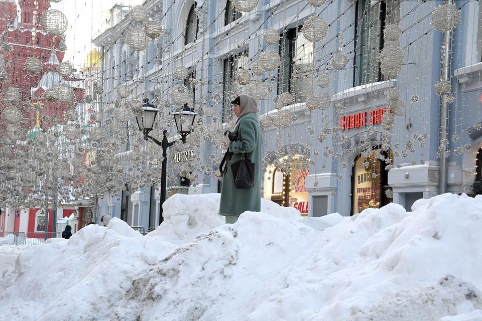 В столице сегодня выпадет еще несколько сантиметров снега