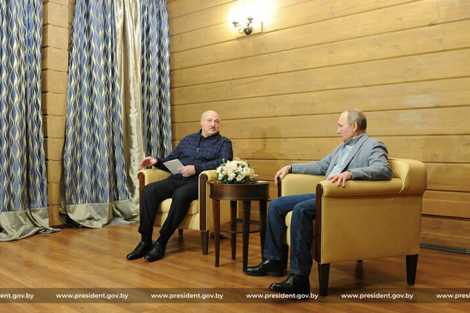 Встреча Путина и Лукашенко в Сочи завершилась. Фото: president.gov.by