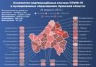 Карта распространения коронавируса в Брянской области на 24 февраля 2021 года