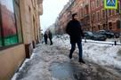 Скользко, очень скользко: тротуары в Петербурге превратились в каток